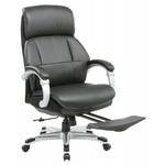 Кресло руководителя Бюрократ MIRO/BLACK с подставкой для ног