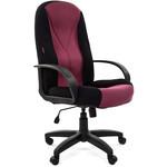 Компьютерное кресло для руководителя Chairman 785 TW-11 черный + TW-13 бордо
