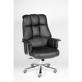 Кресло для руководителя в офис NORDEN PRESIDENT (Президент) Черная ЭКО кожа