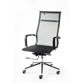 Кресло для руководителя в офис NORDEN HELMUT (Хельмут) Черная сетка