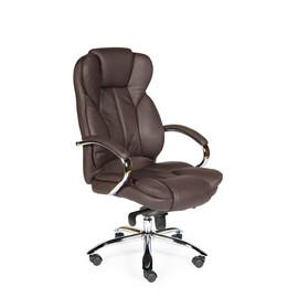 Кресло для руководителя в офис NORDEN VERSA (Верса) Коричневая ЭКО кожа