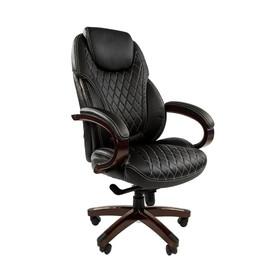 Компьютерное кресло для руководителя Chairman 406 Черная ЭКО Кожа
