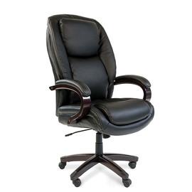 Компьютерное кресло для руководителя Chairman 408 Натуральная кожа черного цвета