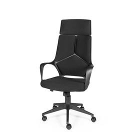 Кресло для руководителя в офис NORDEN IQ черный пластик/черная ткань