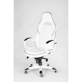 Кресло для руководителя в офис NORDEN MUSTANG X (Мустанг) Белая ЭКО кожа