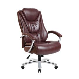 Кресло для руководителя в офис Riva Chair 9373 эко-кожа Коричневый