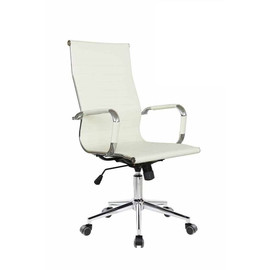 Кресло для руководителя в офис Riva Chair 6002-1 S светлый бежевый
