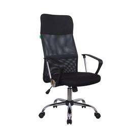 Офисное кресло Riva Chair 8074 (подголовник - экокожа) черное