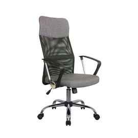 Офисное кресло Riva Chair 8074 F (подголовник - ткань) серый
