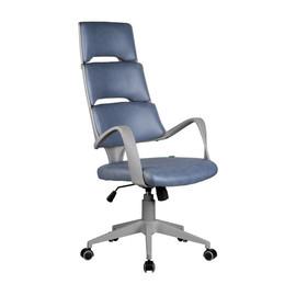 Офисное кресло Riva Chair SAKURA серый пластик ткань фьюжн альпийское озеро