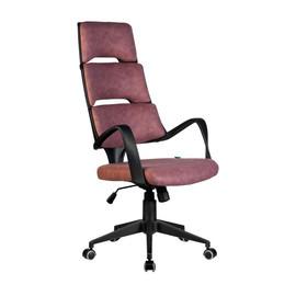 Офисное кресло Riva Chair SAKURA черный пластик ткань фьюжн терракотаОфисное кресло Riva Chair SAKURA черный пластик ткань фьюжн терракота