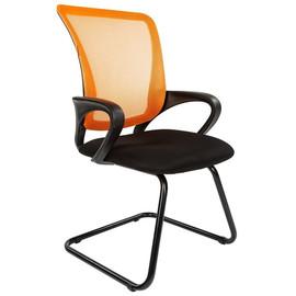 Офисное кресло для посетителей Chairman CH 969 V Ткань/сетка TW (оранжевый) 580x560x990