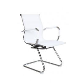 Офисное кресло для посетителей и переговорных Riva Chair 6001-3 белая сетка