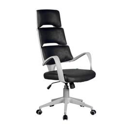 Офисное кресло Riva Chair SAKURA серый пластик ткань фьюжн черный
