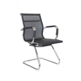 Офисное кресло для посетителей и переговорных Riva Chair 6001-3 черная сетка