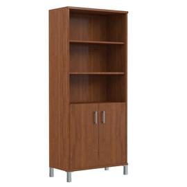 Шкаф для документов высокий с глухими малыми дверьми В-430.2 Орех Даллас Skyland Born 900х435х1904