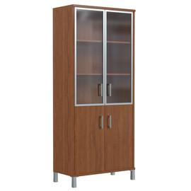 Шкаф для документов высокий с глухими малыми дверьми В-430.4 Орех Даллас Skyland Born 900х435х1904