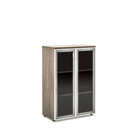 TERRA Шкаф H.121 (80x44xh121см) стеклянные двери МАЛИ