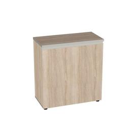 Шкаф для документов в офис широкий низкий закрытый Bella Vita для кабинета руководителя арт. BV-2.0.1 777х387х830 Дуб Сонома