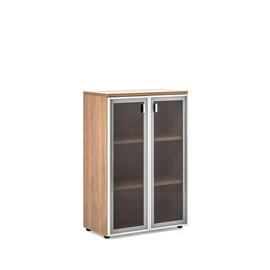 TERRA Шкаф H.121 (80x44xh121см) стеклянные двери Капучино