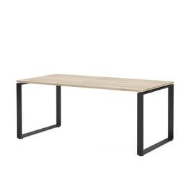 ROTONDA Стол L180 (180x90xh77см) ДУБ СВЕТЛЫЙ/ЧЕРН