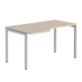 Стол письменный угловой на металлокаркасе в офис XSCT 149 Бук тиара Xten-S 1400х900х750 Левый угол