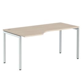 Стол письменный угловой на металлокаркасе в офис XSCT 169 Бук тиара Xten-S 1600х900х750 Левый угол