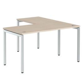 Стол письменный угловой на металлокаркасе в офис XSCT 1415 Бук тиара Xten-S 1400х1500х750
