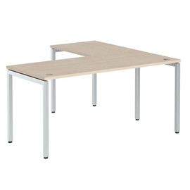 Стол письменный угловой на металлокаркасе в офис XSCT 1615 Бук тиара Xten-S 1600х1500х750