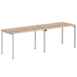 Стол письменный на 2 рабочих места в офис XWST 2470 Дуб Сонома Xten-S 2400х700х750
