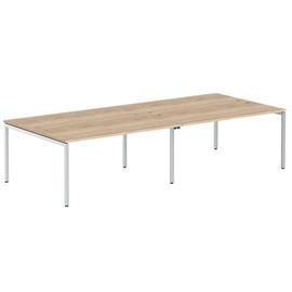 Стол письменный на 4 рабочих места в офис XWST 3214 Дуб Сонома Xten-S 3206х1400х750