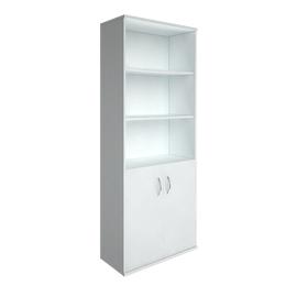Шкаф для документов в офис высокий широкий (2 низкие двери ЛДСП) RIVA А.СТ-1.1 770х365х1980