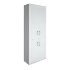 Шкаф для документов в офис высокий широкий (2 низкие двери ЛДСП, 2 средние двери ЛДСП) RIVA А.СТ-1.3 770х365х1980