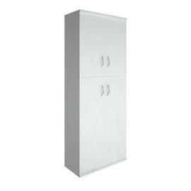 Шкаф для документов в офис высокий широкий (2 средние двери ЛДСП, 2 низкие двери ЛДСП) RIVA А.СТ-1.8 770х365х1980