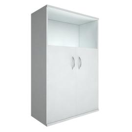 Шкаф для документов в офис для документов в офис средний широкий (2 низкие двери ЛДСП) RIVA А.СТ-2.1 770х365х1215