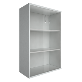 Шкаф для документов в офис средний широкий (2 средние двери стекло) RIVA А.СТ-2.4 770х365х1215