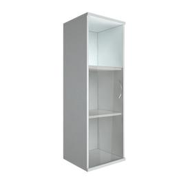 Шкаф для документов в офис средний узкий правый (1 низкая дверь стекло) RIVA А.СУ-2.2 Пр 404х365х1215