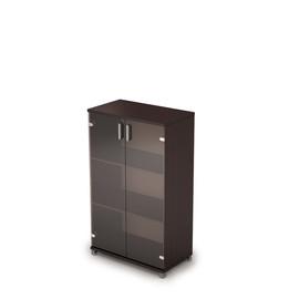 Шкаф для документов средний со стеклом AVANCE 6Ш.017.3 Венге 800х450х1348