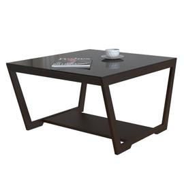 Стол журнальный Beauty Style 1 Венге/черное стекло Mebelic