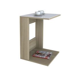 Стол журнальный Beauty Style 3 Сонома/Белое стекло Mebelic