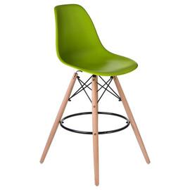 Барный стул Eames Style DSW LMZL-PP623G салатовое сиденье LogoMebel
