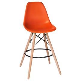 Барный стул  Eames Style DSW LMZL-PP623G оранжевое сиденье LogoMebel