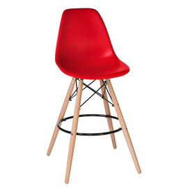 Барный стул Eames Style DSW LMZL-PP623G красное сиденье LogoMebelБарный стул Eames Style DSW LMZL-PP623G красное сиденье LogoMebelБарный стул Eames Style DSW LMZL-PP623G красное сиденье LogoMebel