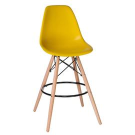 Барный стул  Eames Style DSW LMZL-PP623G желтое сиденье LogoMebel
