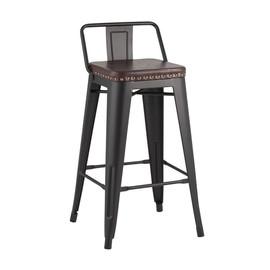 Полубарный стул Tolix Soft  черный матовый Stool Group