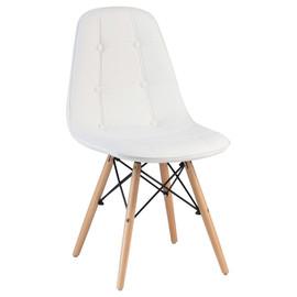 Стул Eames Style DSW Eco LMZL-301 белый DOBRIN