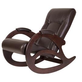 Кресло-качалка Тенария 1 Темно-коричневый/Коричневый крокодил Mebelic