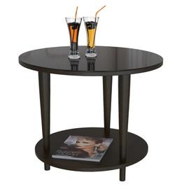 Стол журнальный Beauty Style 10 Венге/черное стекло Mebelic