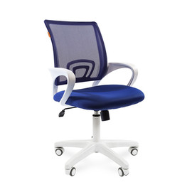 Компьютерное кресло Chairman 696 white Синий TW 10/TW 05