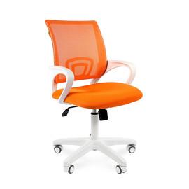 Компьютерное кресло Chairman 696 white оранжевый TW 16 /TW 66